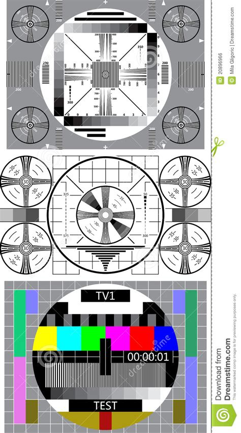 test pattern design tv test pattern stock vector image of lines design