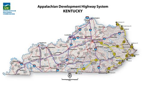 kentucky map interstate appalachian development highway system