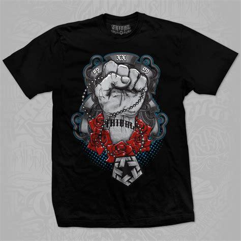 T Shirt Black Mix Tribal tribal t shirt black