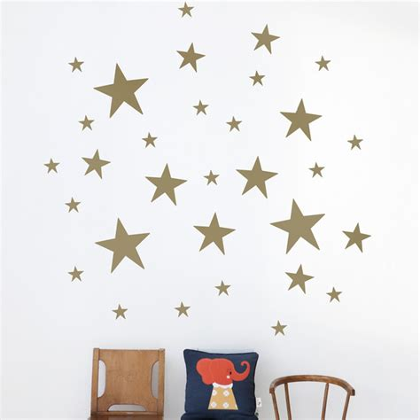 decorative stars for homes stars kids wall sticker in gold modern wall decals