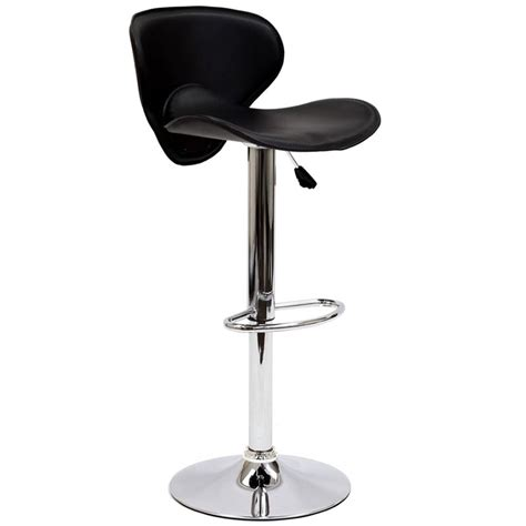 Leather Adjustable Bar Stools by Modway Booster Adjustable Faux Leather Swivel Bar Stool In
