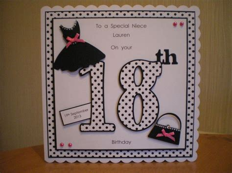 Ideas For 18th Birthday Cards Handmade - handmade 18th birthday card cards ages