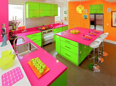 lime green and orange kitchen 30 colorful kitchen design ideas from hgtv kitchen ideas
