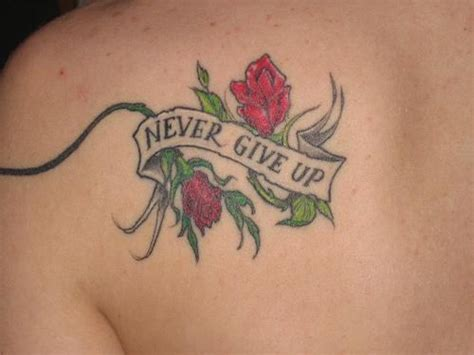 tattoo ideas never give up never give up tattoo