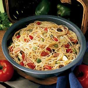 pasta salad with spaghetti noodles spaghetti pasta salad recipe taste of home
