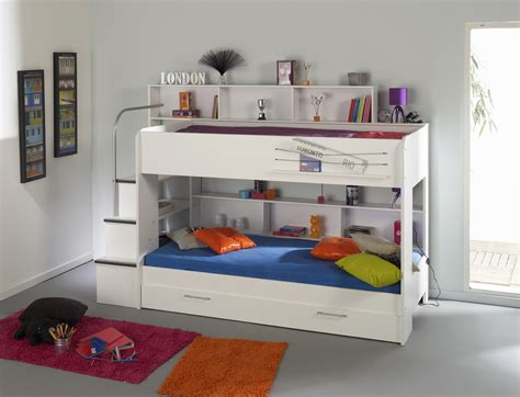 Parisot Bibop Bunk Bed Parisot Bibop Bunk Bed In White Rainbow Wood