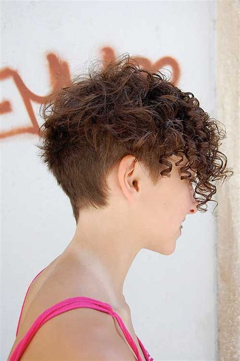 short on one side curly hairstyles 20 best cute short curly hairstyles short hairstyles