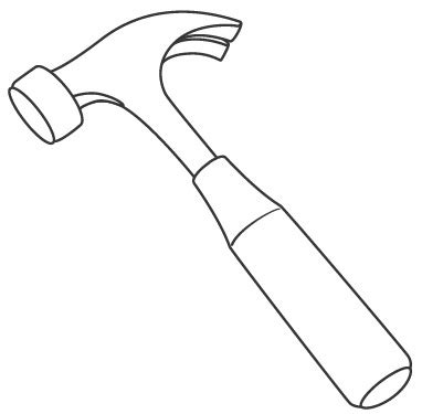 Coloring Page Hammer by Hammers Free Coloring Pages