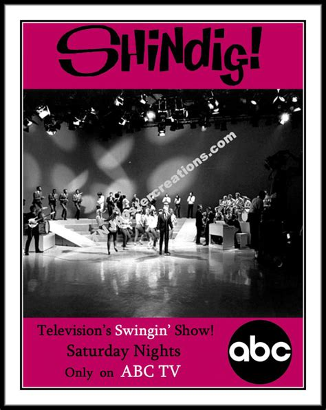 music television shows shindig poster 1960s music television show by mygenerationshop
