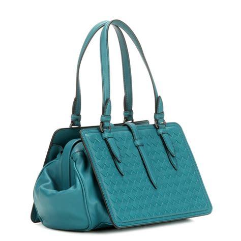 Bottega Veneta Sturzzo Intercciato Handbag by Lyst Bottega Veneta Intrecciato Leather Handbag In Blue