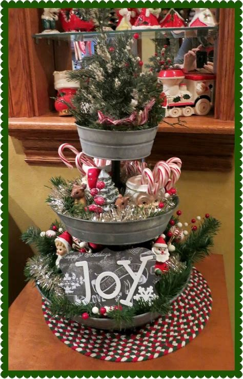 christmas tiered stand merry christmas pinterest