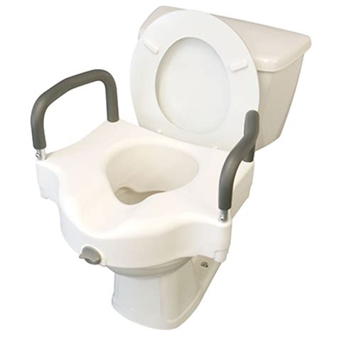 toilet seat riser with arms and legs medline bath bench with back med emporium