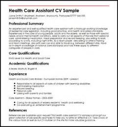 health care assistant cv sle myperfectcv