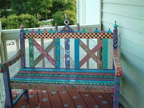 painted bench ideas whimsical painted furniture ideas painting diy lynda makara