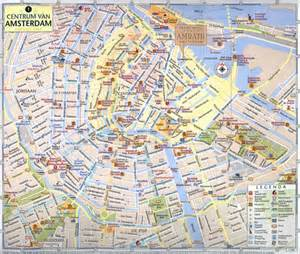tourist map of central large tourist map of central part of amsterdam city vidiani maps of all countries in one