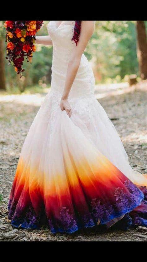 dip dyed wedding dress bottom dip dye wedding dress dye