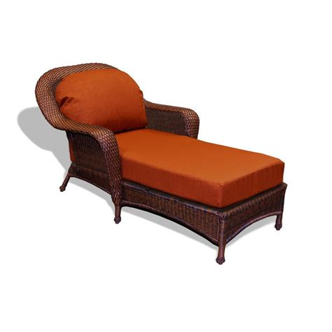 Patio Chaise Lounge Shop Tortuga Outdoor Java Wicker Patio Chaise Lounge At Lowes