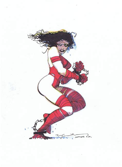 elektra lives by bill sienkiewicz after frank miller in jeff singh s bill sienkiewicz art comic