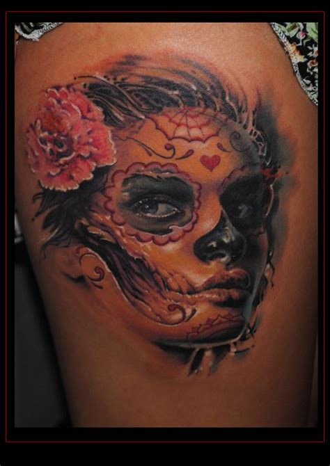 dawn of the dead tattoos sugar skull