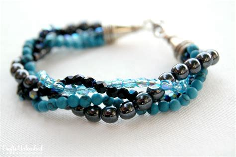 bead bracelet how to make a bracelet with twisted bead strands