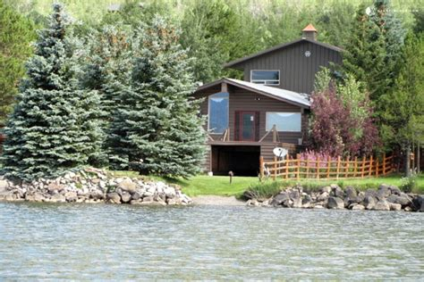lakefront cabin rental near yellowstone national park montana