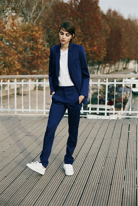 Navy Fashion casual style appropriate pantsuits wardrobelooks