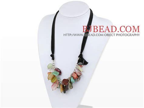 Cristal X Cx piedras preciosas y cristal un collar de turquesa con lazo negro pictures