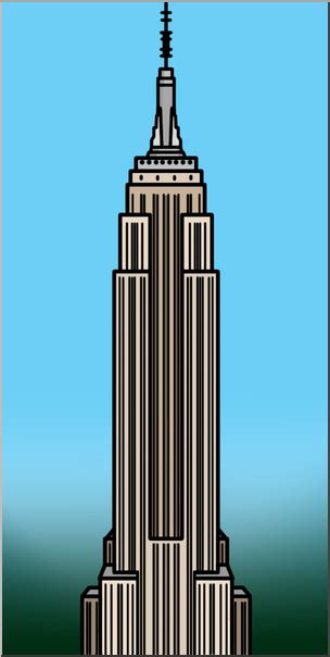 empire state building color clip empire state building color i abcteach