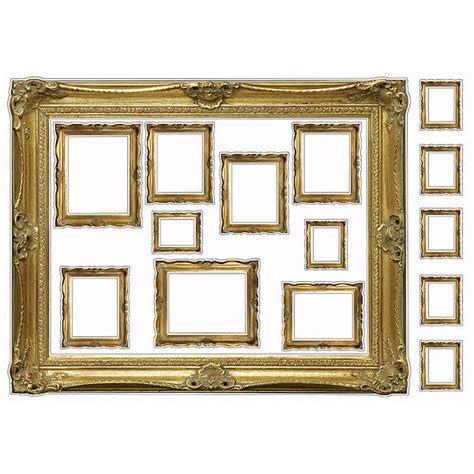 wall stickers picture frames gold frames wall decals poptalk