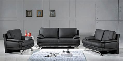 black sofa set 9250 modern black sofa set black design co
