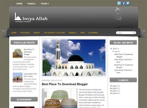 islamic templates for blogger 10 template blog islami free download suara risalah