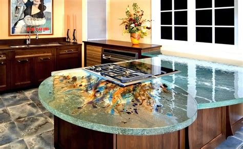 Glass Kitchen Countertops by Glass Kitchen Countertops By Thinkglass Idesignarch