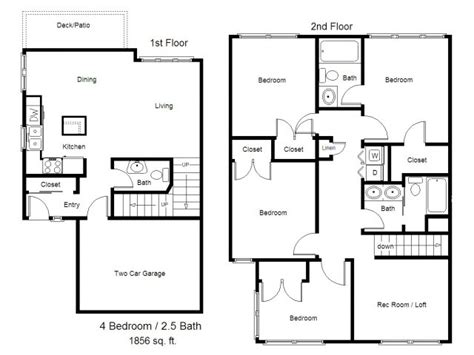 4 bedroom townhouse designs townhouse floor plans 4 bedroom www pixshark com