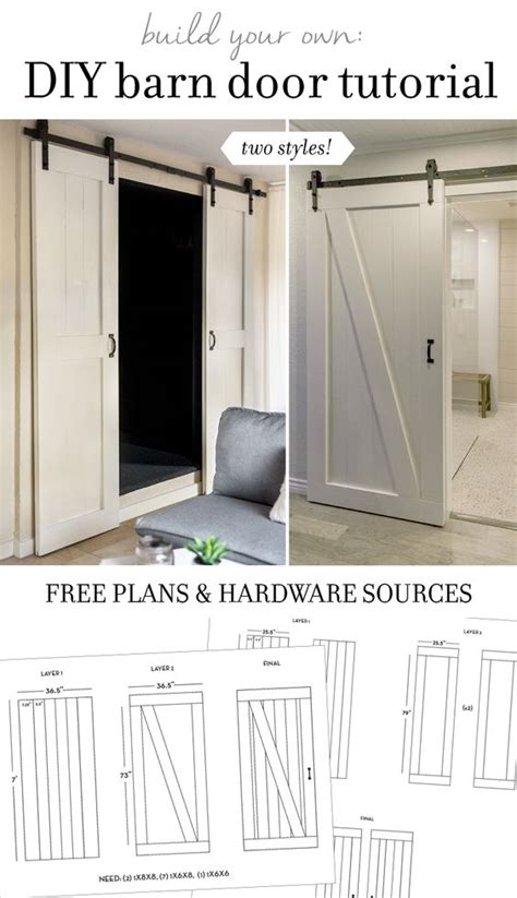 Barn Door Tutorial Diy Barn Door Plans Tutorial Diy Barn Door Barn Doors And Barns