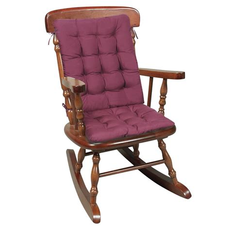 piece rocking chair cushions seat  pads burgundy ebay