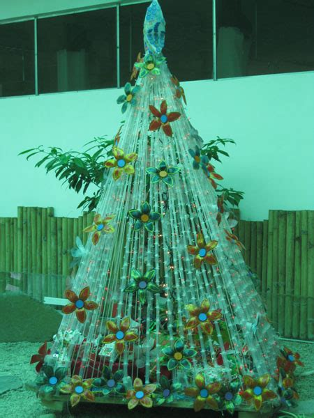 panabo city s christmas tree made from recycled items