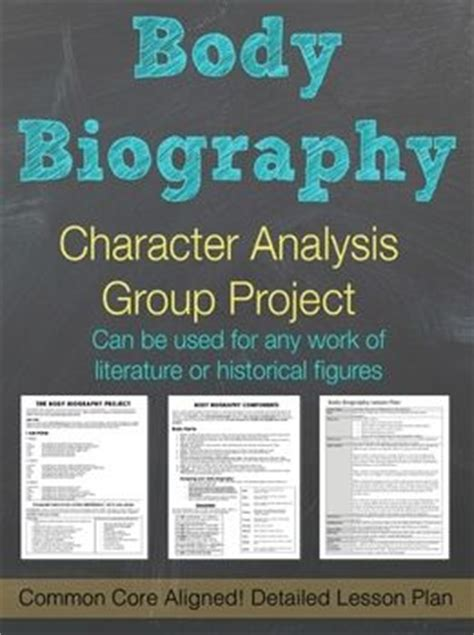Body Biography Lesson Plan | body biography characterization group project detailed