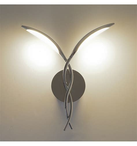applique a led applique m 233 tal led 2 branches