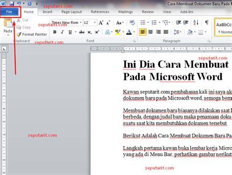 cara membuat outline pada word ini dia cara membuat dokumen baru pada microsoft word