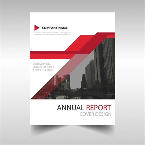 modern annual report template vector free