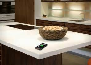 wireless charging corian countertop by dupont hiconsumption