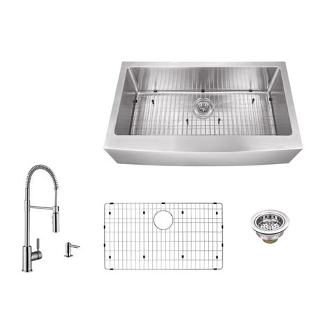 kitchen sink company ipt sink company apron front 36 in 16 gauge stainless