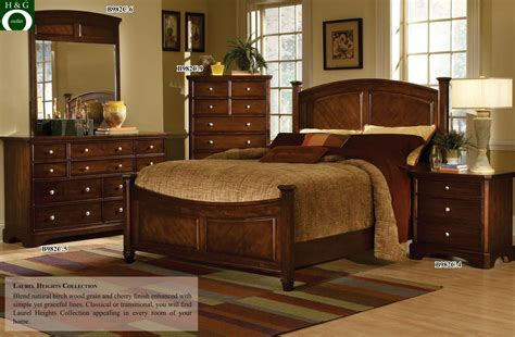 cherry wood queen bedroom decoration sets sets cherry furniture wall color   wood