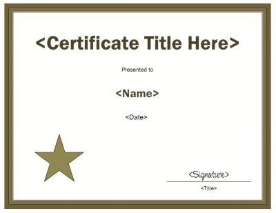 generic certificate template 11 best awards images on