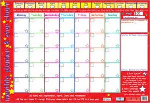 Buy Wall Murals Online monthly planner and star chart children s planner poster
