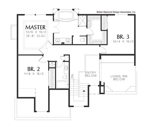 steep lot house plans mascord house plan 2244bd the bromley