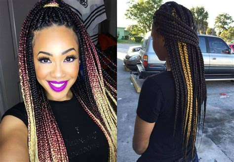 hair color and highlightes for box braids amazing est box braids natural hair colors highlights