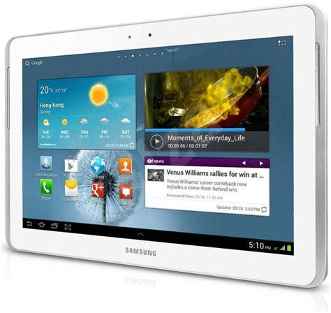 Samsung P5100 Tab 2 10 1 Espresso White samsung galaxy tab 2 10 1 3g white gt p5100 tablet