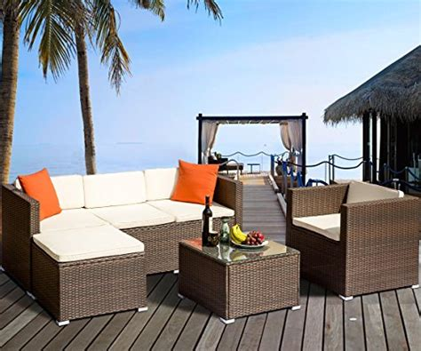 patio zone leisure zone rattan patio furniture set wicker sofa