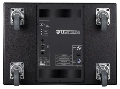 Speaker Subwoofer 18 Rcf rcf tts18 a 18 inch 1000 watts active high power subwoofer with xlr in out new rcf13 tts18 a